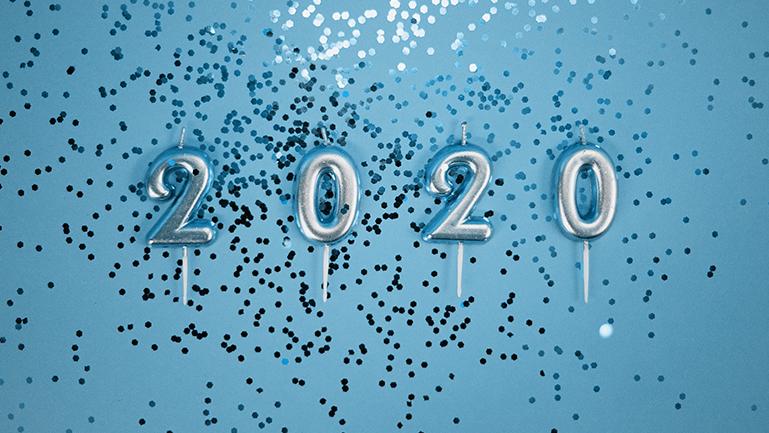 Imagem de fim de ano para representar a mudança para o ano de 2020